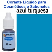 CORANTE LIQUIDO PARA SABONETES AZUL TURQUESA 10 ml