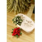 Molde Silicone 02 cavidades Flor de Natal