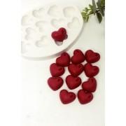Molde Silicone 12 cavidades Coração Gota G
