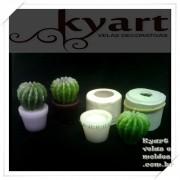Molde Silicone Cactus com vasinho
