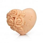 Molde silicone coração flor I love U