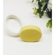 Molde Silicone sabonete Oval liso