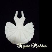 Molde silicone Vestido Bailarina