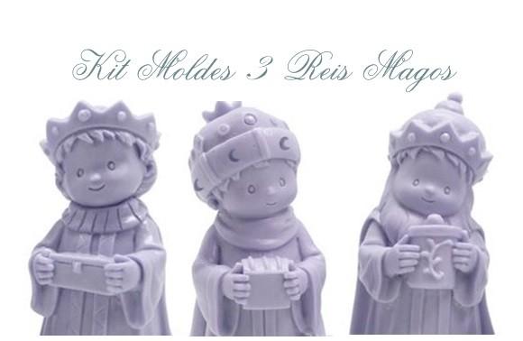 KIT 03 MOLDES SILICONE REIS MAGOS