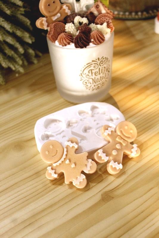 Molde Silicone 02 Cavidades Bonecos de gengibre