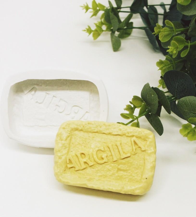 Molde Silicone Barra Argila