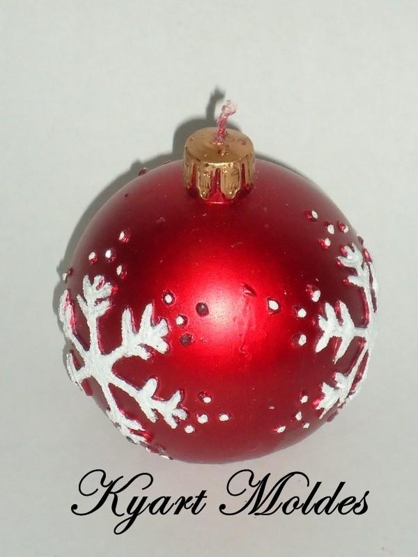 Molde Silicone Bola Natal Floco de neve