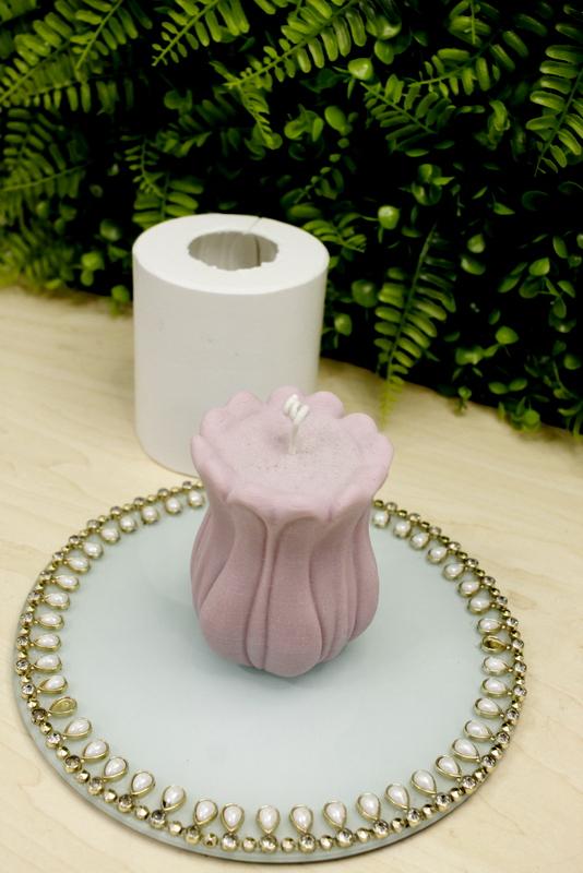 Molde Silicone Rosa Candle