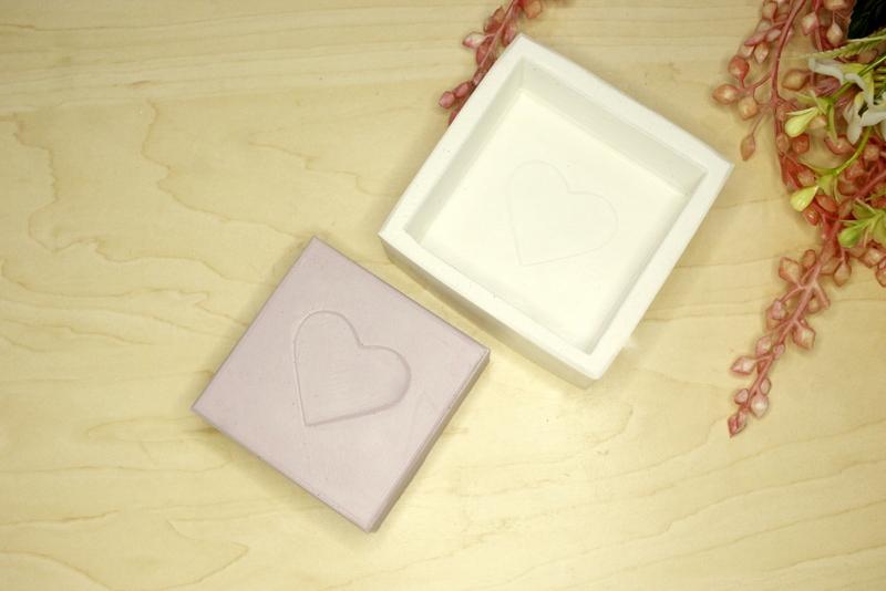 Molde Silicone Sabonete Quadrado Coração