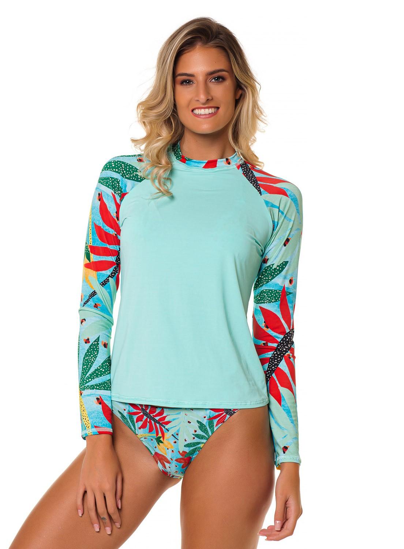 Camiseta Feminina Proteção Solar FPU50+ MUVI - Libélula