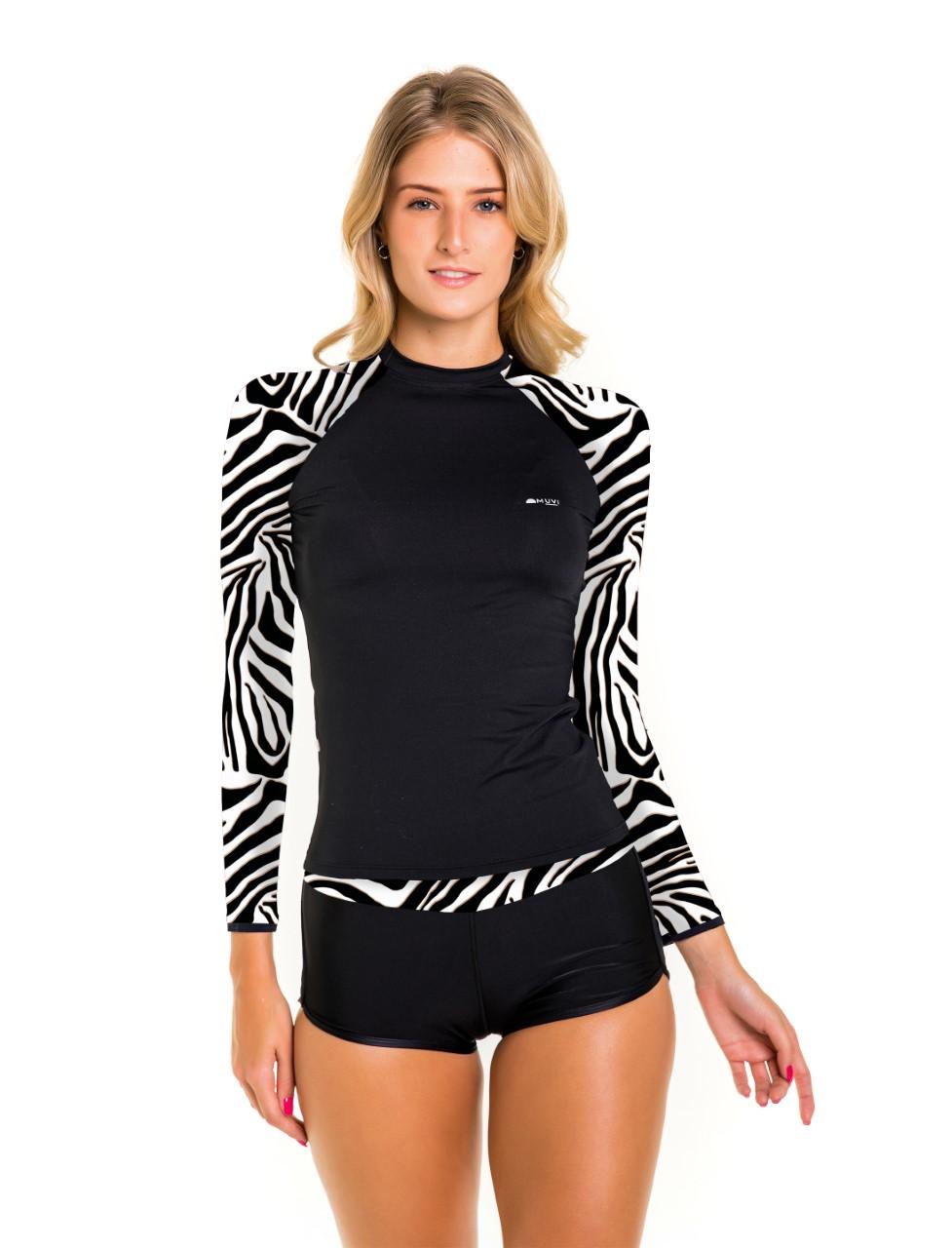 Conjunto Uv camisa e biquíni com proteção solar UV50+  Exotic Premium