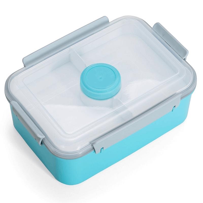 Marmita Plástica com Porta Molho Azul