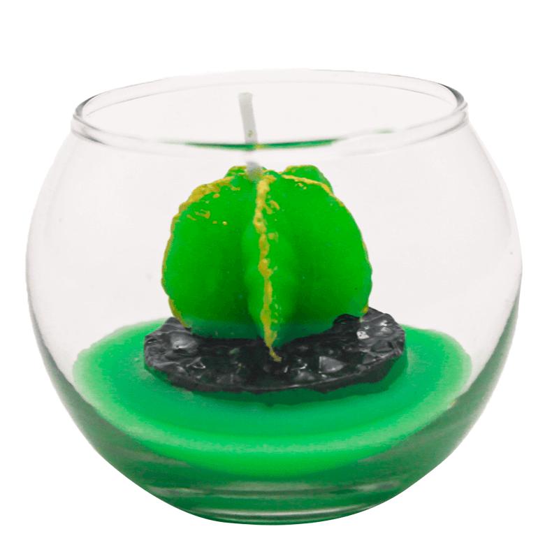 Mini Vela Decorativa Suculenta