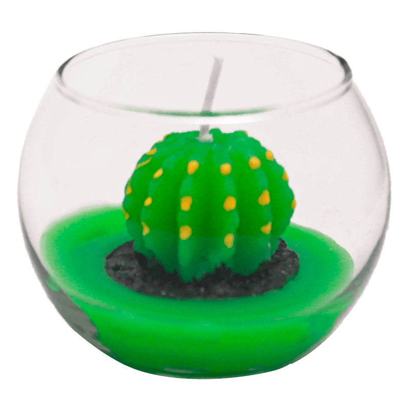 Mini Vela Decorativa Cacto