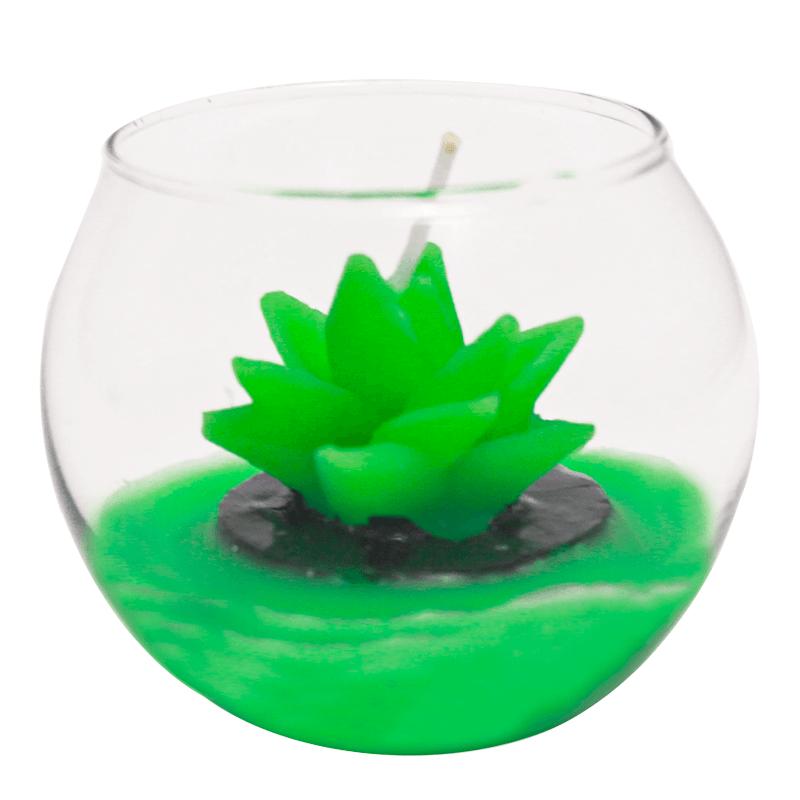 Mini Vela Decorativa Planta