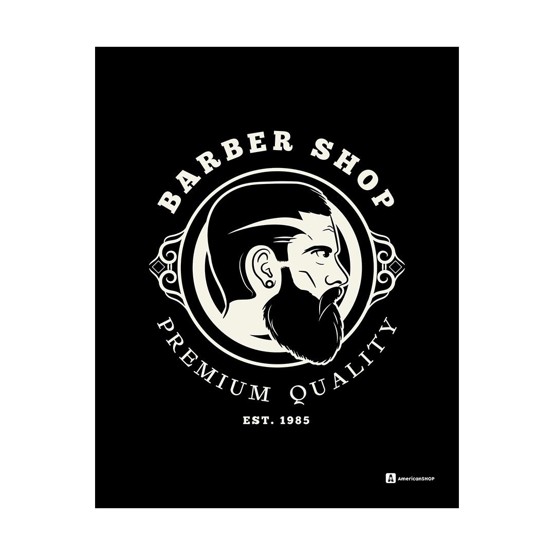 Quadro Decorativo Metal 20X26cm Barber Shop01