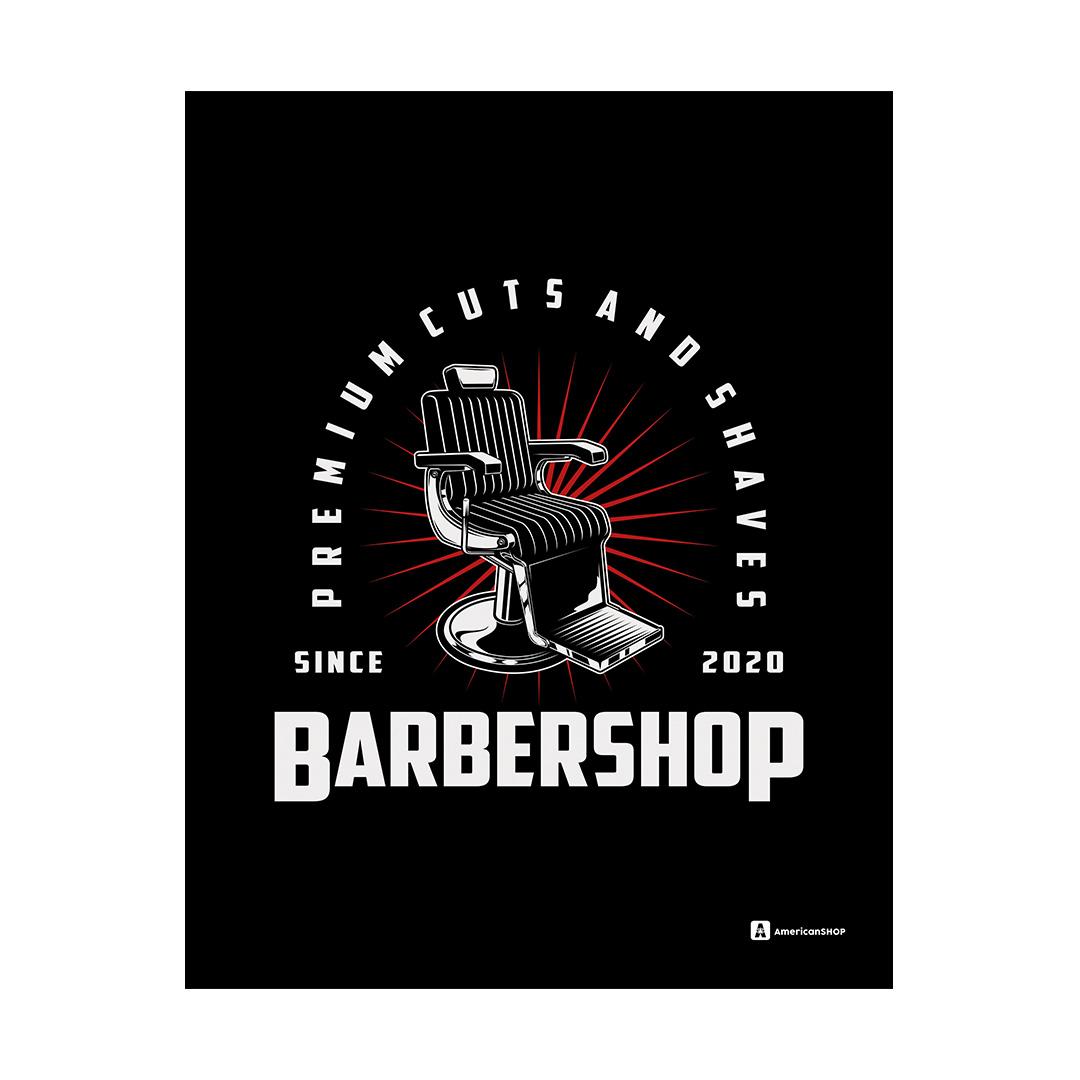 Quadro Decorativo Metal 20X26cm Barber Shop02