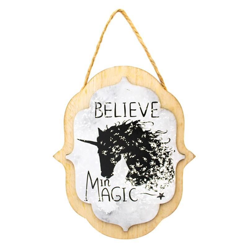 Quadro MDF 18x15cm Believe In Magic