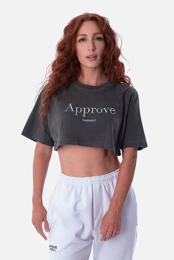 CROPPED REGULAR APPROVE MIRAGE CINZA COLOR