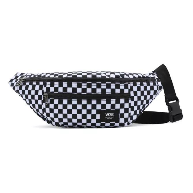 Pochete Vans Ward Cross Body Pack Black White Checkerboard - VN0A2ZXXHU0
