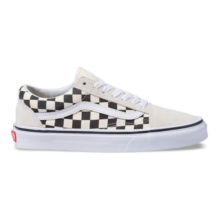 Tênis Vans Old Skool Checkerboard - WHITE/BLACK - VNBA38G127K