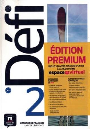 Défi 2 Livre De L'Élève Premium Avec Cd-2-A2