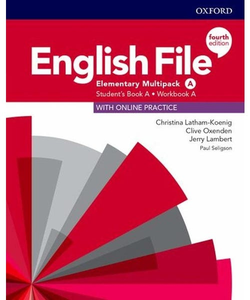 English File Elementary A Sb/Wb Multipk 4Ed  - Mundo Livraria
