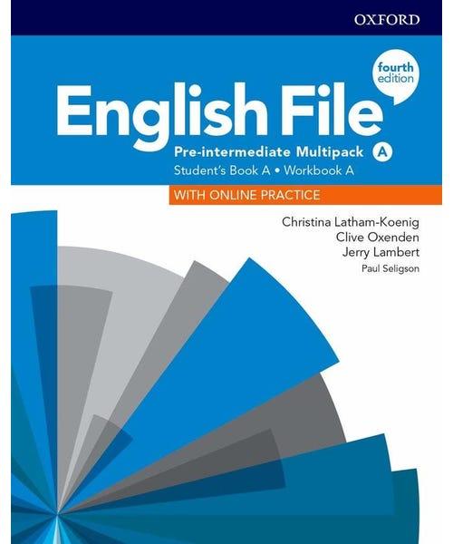 English File Pre-Interm A Sb/Wb Multipk 4Ed  - Mundo Livraria