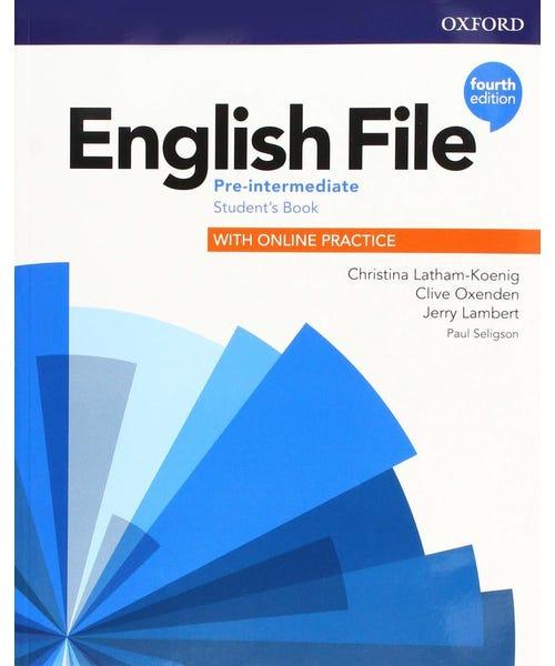English File Pre-Interm Sb W Online Practice 4Ed  - Mundo Livraria