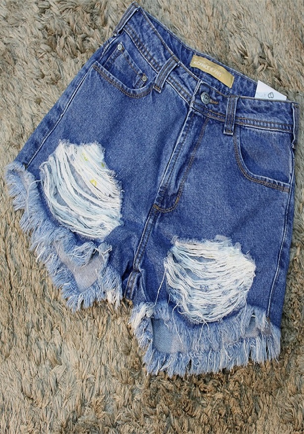 SHORT ALTO DESTROYED - ALCANCE JEANS