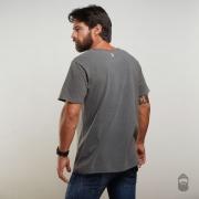 O Lenhador Camiseta Dead Fish Estonada Cinza