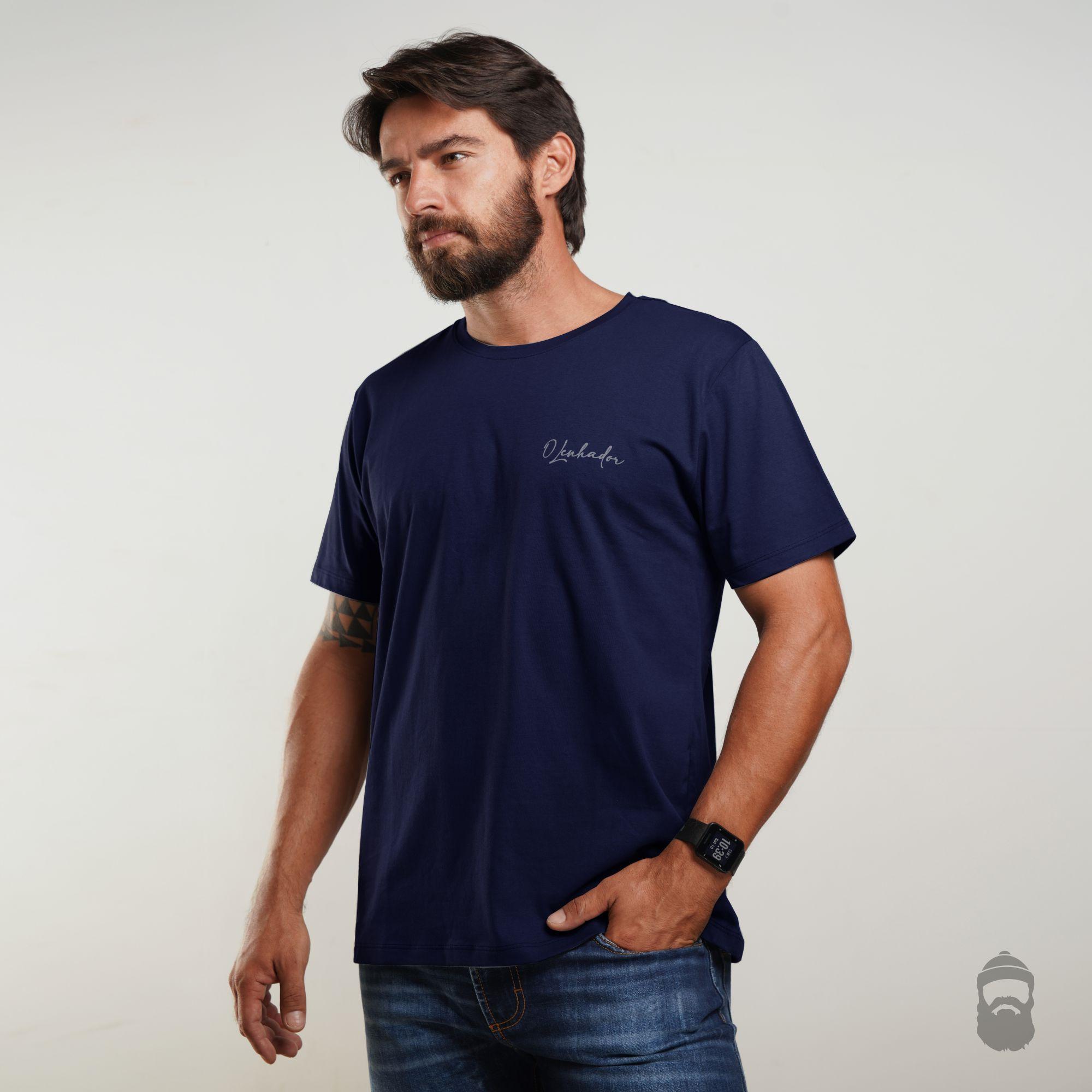 O Lenhador Camiseta Assinatura Azul Marinho