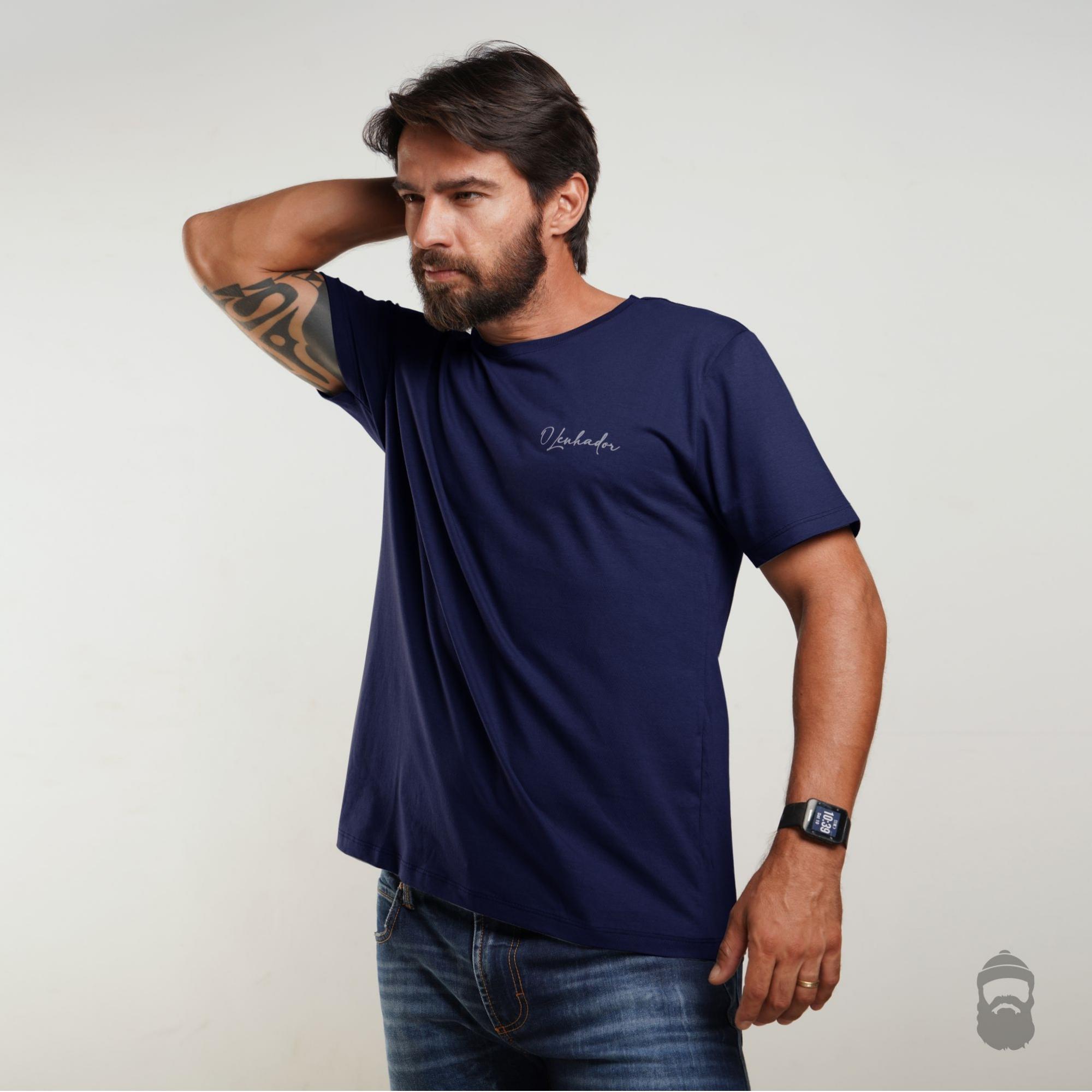 Camiseta Assinatura Azul Marinho