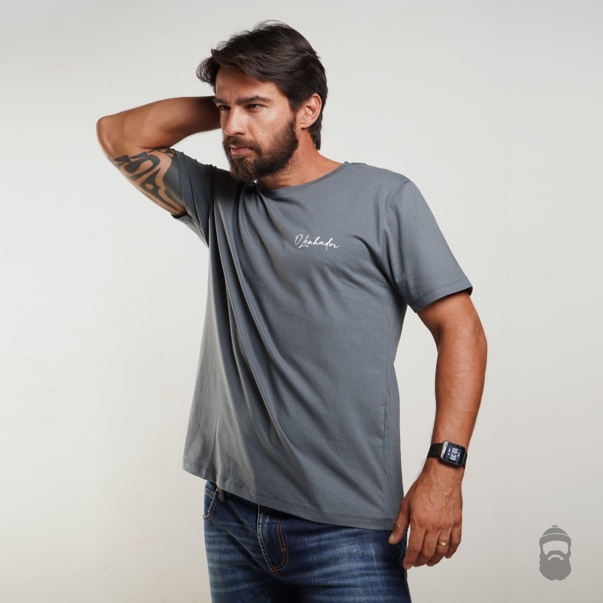 Camiseta Assinatura Cinza