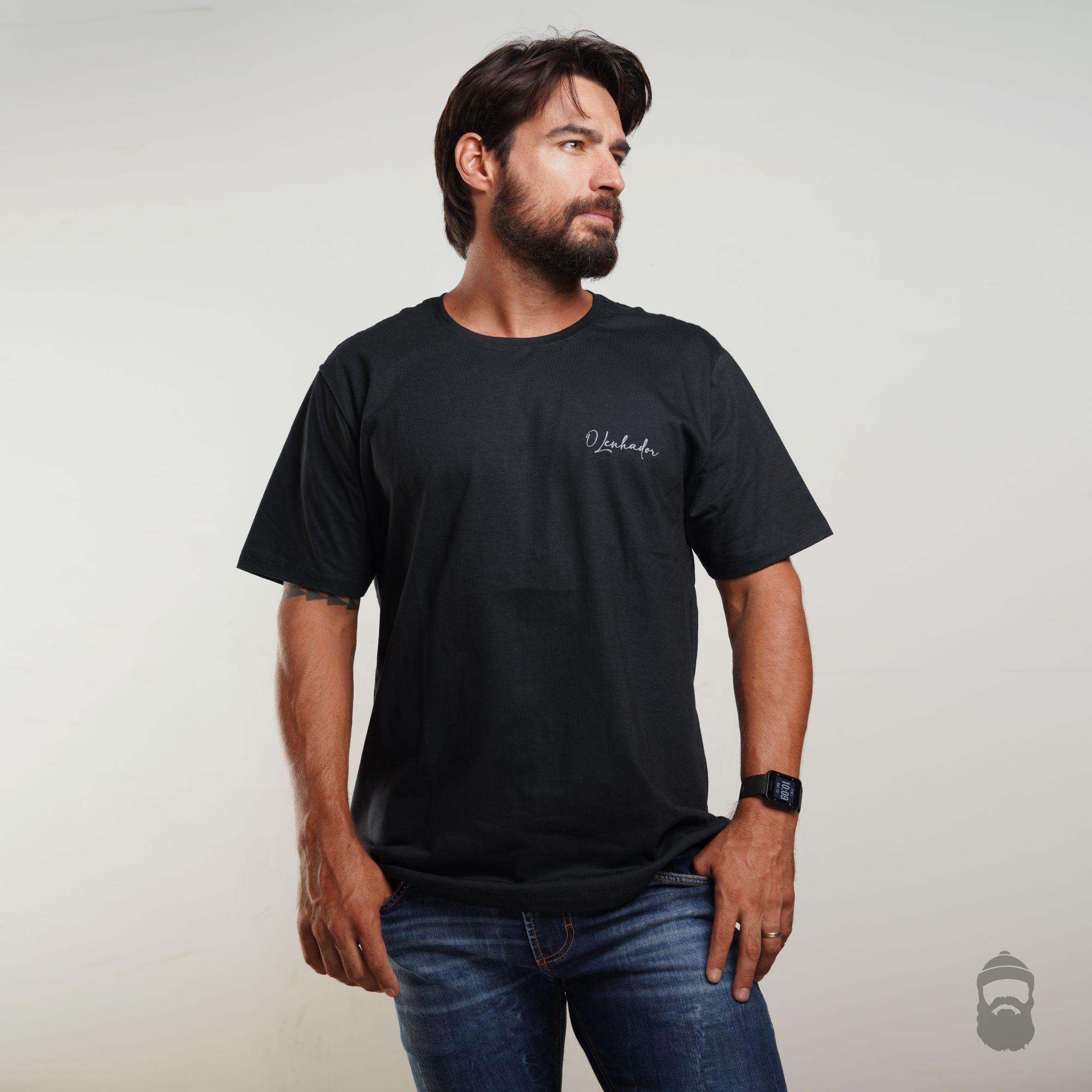 O Lenhador Camiseta Assinatura Preta