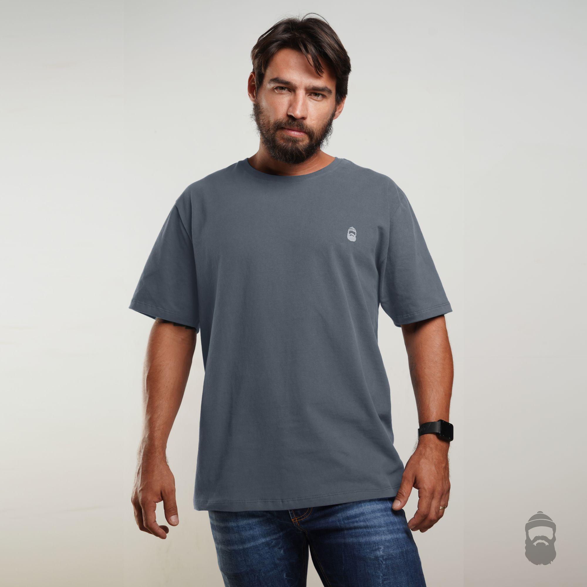 O Lenhador Camiseta Barbudinho Cinza