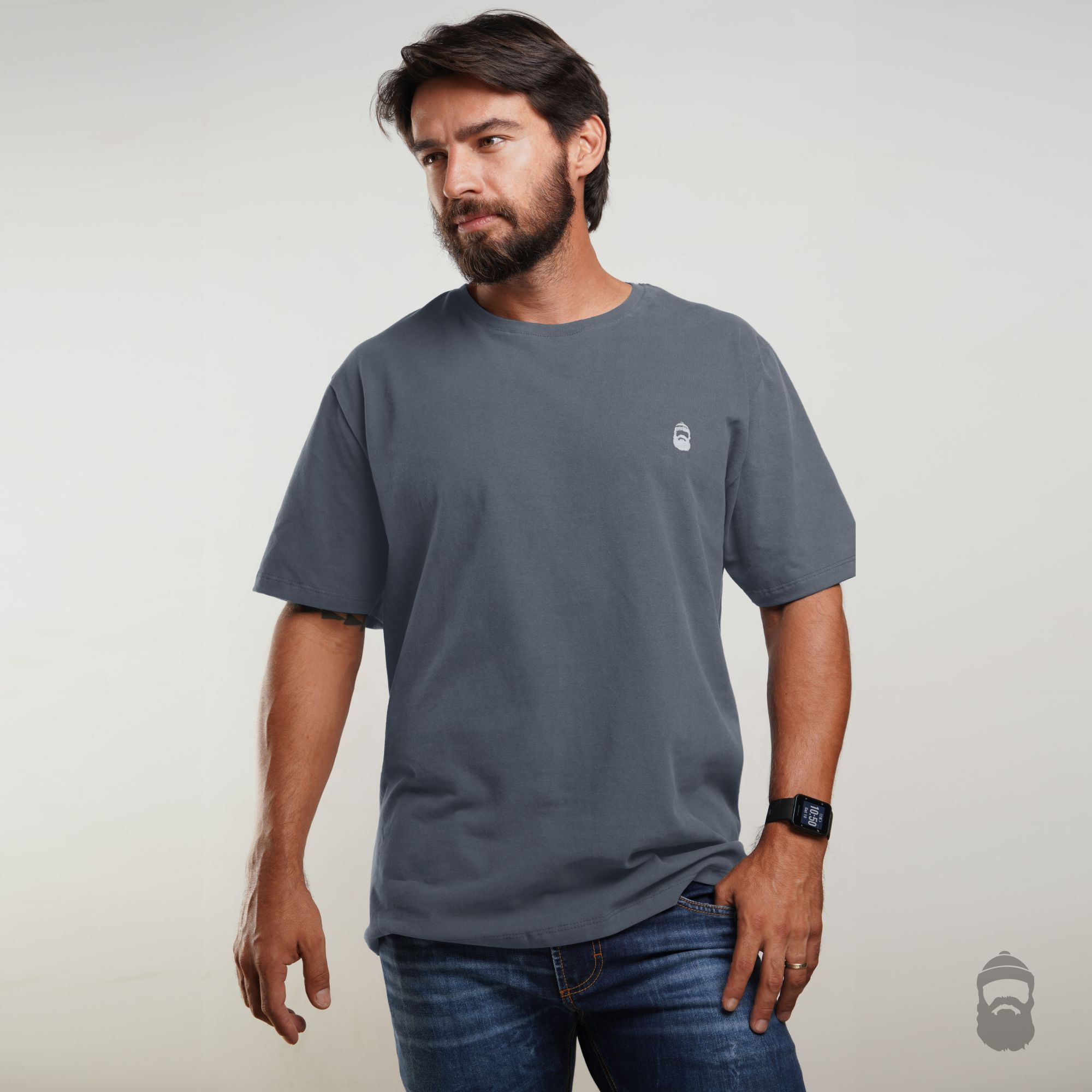 Camiseta Barbudinho Cinza