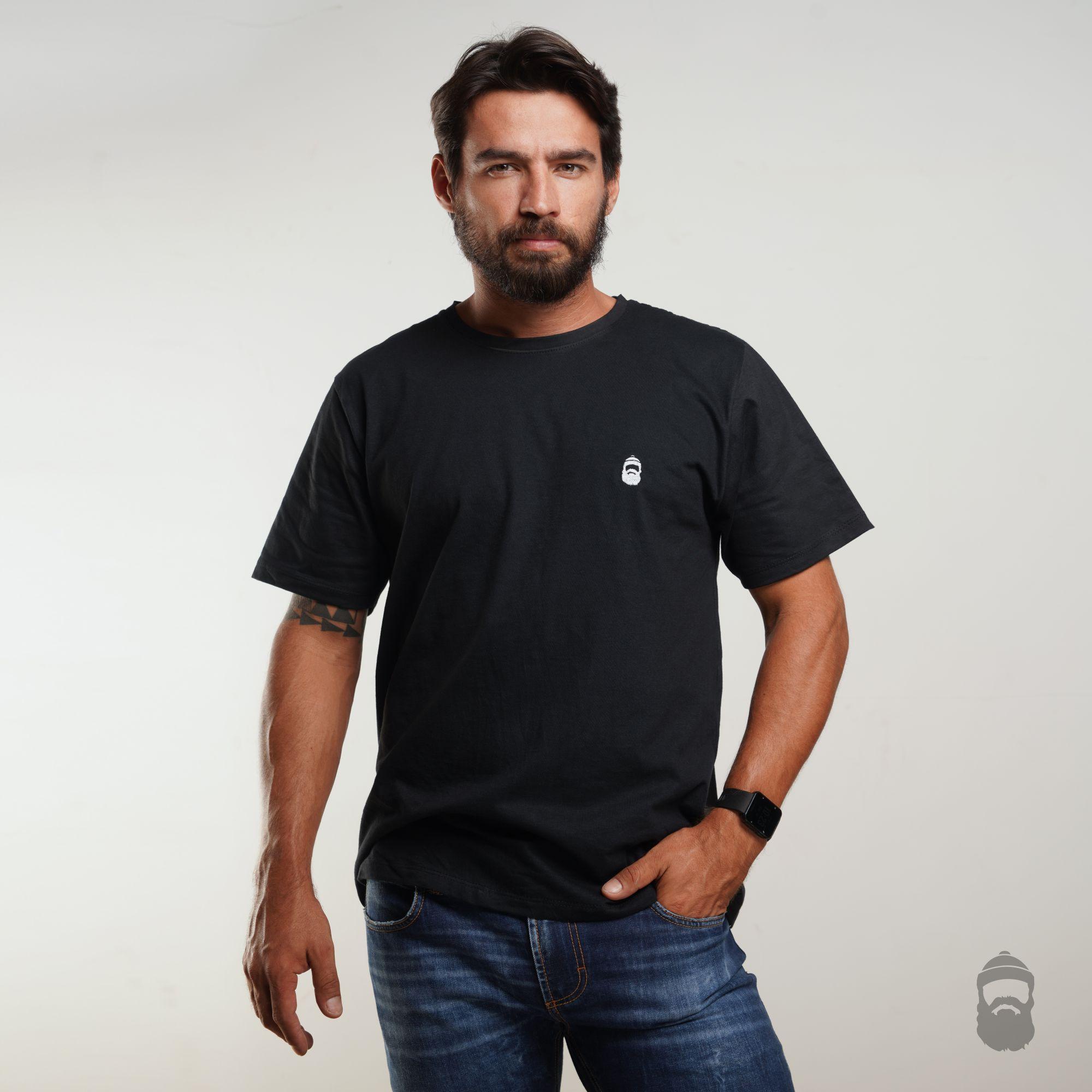 O Lenhador Camiseta Barbudinho Preta