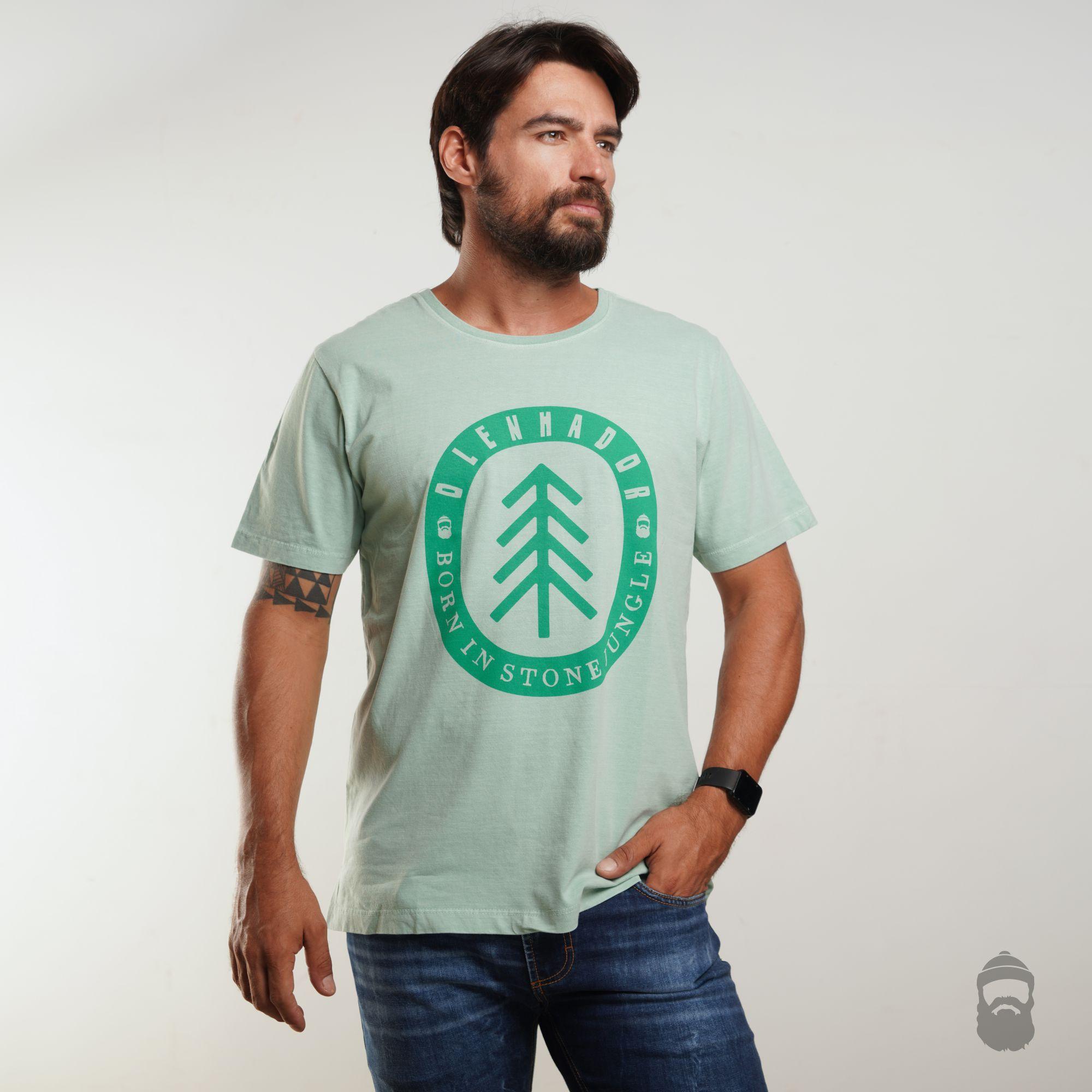 O Lenhador Camiseta Jungle Estonada Verde