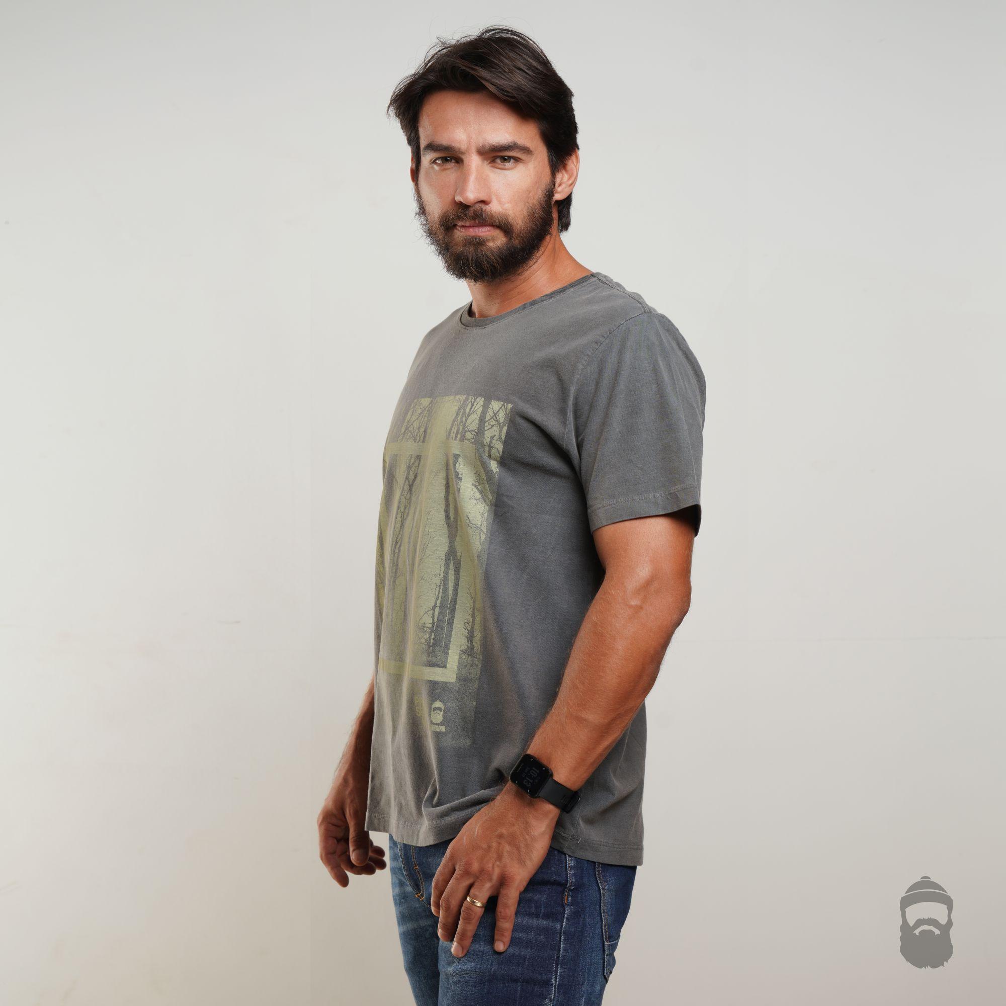 O Lenhador Camiseta Preserve Estonada Cinza