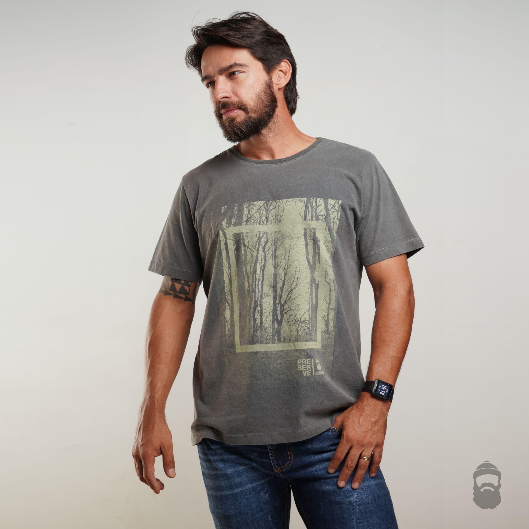 Camiseta Preserve Estonada Cinza
