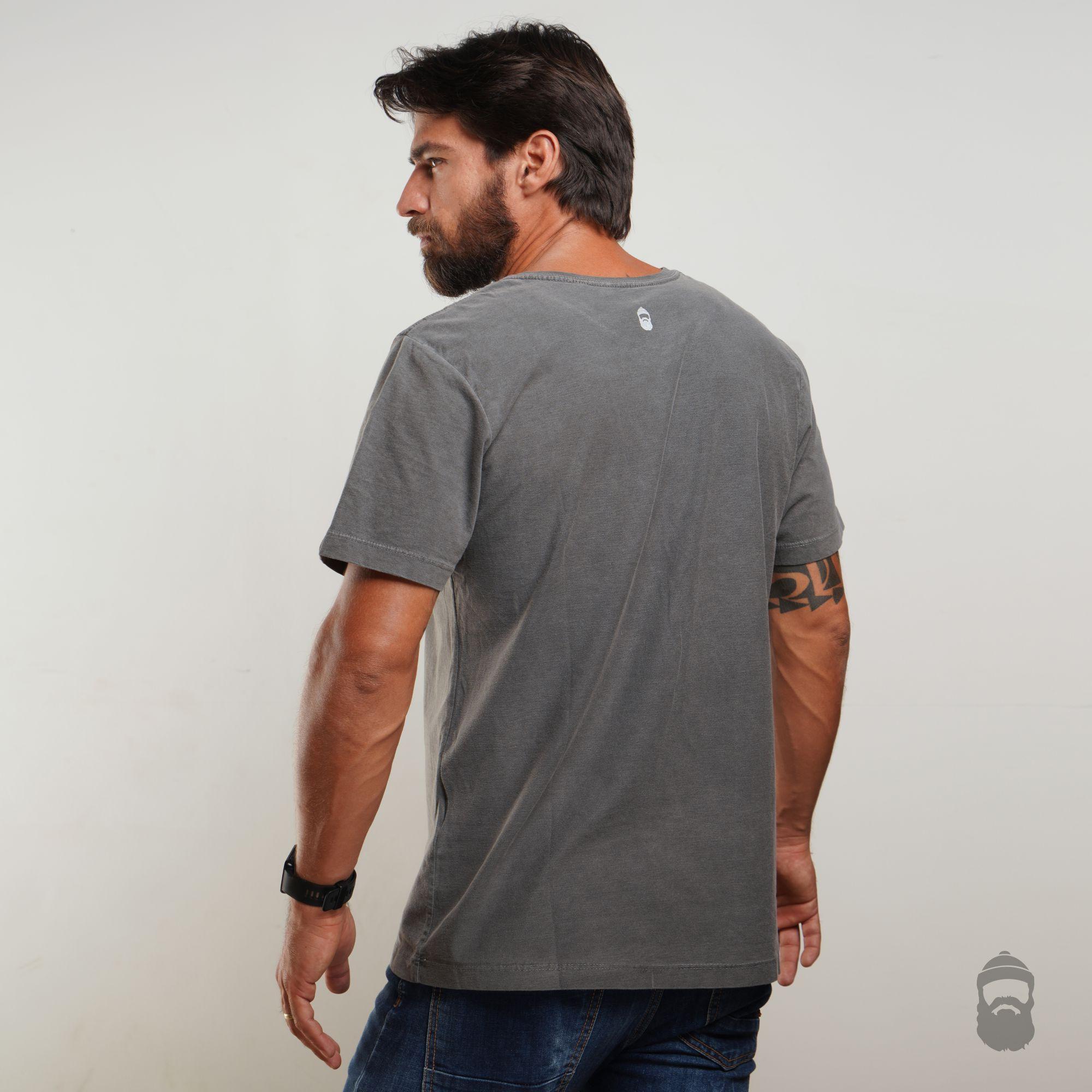 Camiseta T-Bone Estonada Cinza
