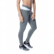 Calça Legging Fitness Cinza Mescla Suplex