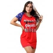 Camisola Estampada Malha Pipoca e Netflix
