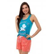 Pijama Short Doll Regata Feminino Luna