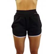 Short Fitness Feminino Corrida Bainha