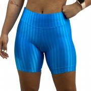 Short Fitness Recomeço Texturizado Azul