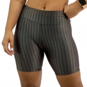 Short Fitness Recomeço Texturizado Chumbo