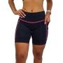 Bermuda Fitness Feminina Com Bolso Preto e Rosa