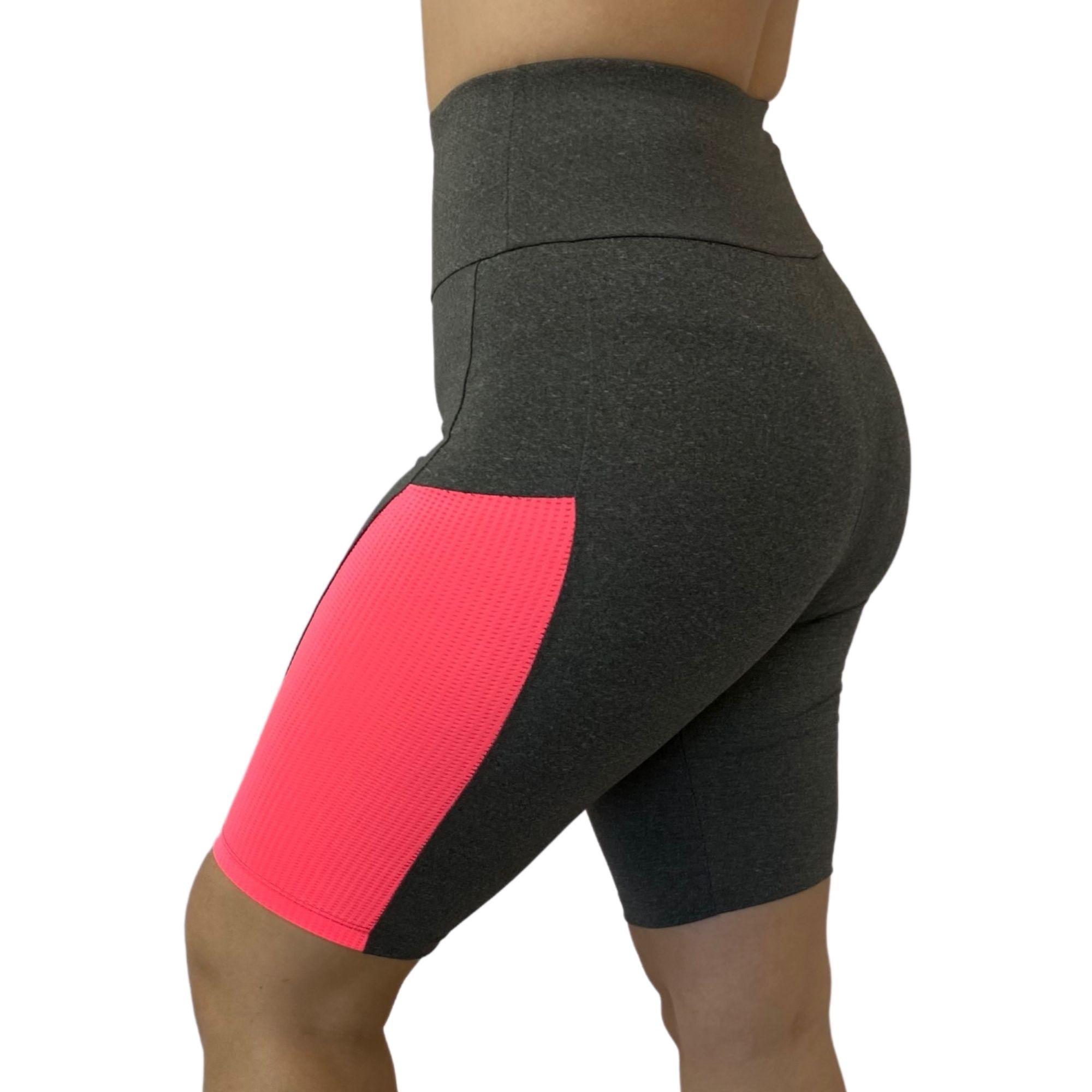 Bermuda Feminina Fitness Cinza